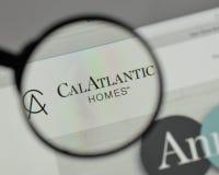 Milan Italien - Augusti 10, 2017: Cal Atlantic Group logo på wen Arkivbilder