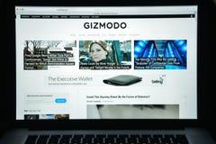 Milan Italien - Augusti 10, 2017: Gizmodo websitehomepage Det är Royaltyfria Foton