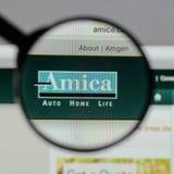 Milan Italien - Augusti 10, 2017: H för website Amica för ömsesidig försäkring Royaltyfri Foto