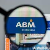 Milan Italien - Augusti 10, 2017: Homepage för ABM-branschwebsite Royaltyfri Bild