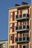Milan Italien byggnader nära Citylife och Portello Arkivbild