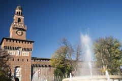 Milan (Italien), Castello Sforzesco Royaltyfria Bilder
