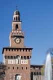 Milan (Italien), Castello Sforzesco Royaltyfria Foton