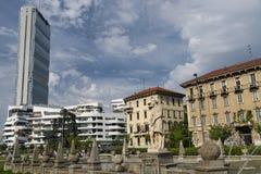 Milan (Italien): Citylife Arkivfoto