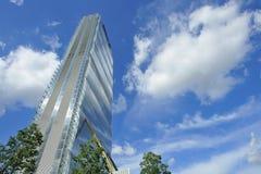 Milan Italien, Citylife ny skyskrapa Royaltyfria Bilder