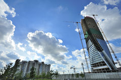 Milan Italien, Citylife ny skyskrapa Royaltyfri Fotografi