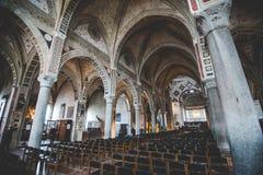 MILAN ITALIEN - DECEMBER 10,2015: Kyrkliga heliga Mary av nåd (Santa Maria delle Grazie), Milan Royaltyfria Bilder