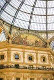 MILAN ITALIEN - 13-05-2017: Galleria Vittorio Emanuele II i Mila Fotografering för Bildbyråer