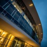 MILAN ITALIEN, JUNI 18 2014: nytt Porta Garibaldi affärsområde, nattplats Fotografering för Bildbyråer