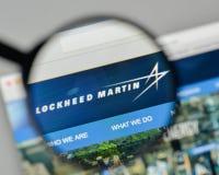 Milan Italien - November 1, 2017: Lockheed Martin logo på rengöringsduken Arkivfoton