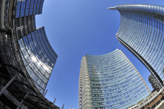 Milan Italien, ny Porta Nuova skyskrapa Arkivbilder