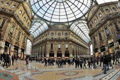 Milan Italien - Piazza Duomo Galleria Royaltyfri Bild