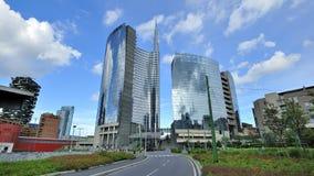 Milan Italien, Porta Nuova ny skyskrapa Royaltyfri Fotografi