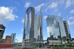 Milan Italien, Porta Nuova ny skyskrapa Arkivfoto