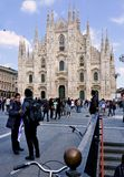 Milan Italien portagenova station Royaltyfri Bild