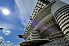 Milan Italien, San Siro fotbollsarena Royaltyfri Foto