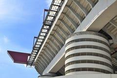 Milan Italien, San Siro fotbollsarena Arkivbild