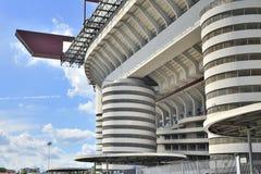Milan Italien, San Siro fotbollsarena Arkivbilder