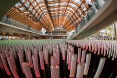 MILAN ITALIEN - 17 SEPTEMBER 2015 - sista dag av utställningen Arkivfoto