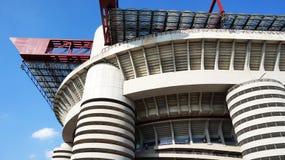 MILAN ITALIEN - SEPTEMBER 13, 2017: Stadio Giuseppe Meazza som gemensamt är bekant som San Siro, är en fotbollsarena i den San Si Royaltyfria Foton