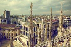 Milan Italien. Sikt på kunglig slott Arkivbild
