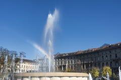 Milan (Italien), springbrunn Arkivfoto