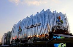 Milan Italien - 8th September, 2015 EXPO MILANO Kasakhstan PA Royaltyfria Foton
