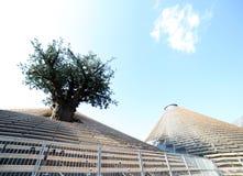 Milan Italien - 8th September, 2015 EXPO MILANO Paviljong nollv arkivbilder