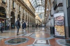 Milan Italien Vittorio Emanuele II galleri royaltyfri fotografi