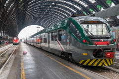 MILAN, ITALY – JULY 1: High speed train awaiting depature at t Royalty Free Stock Images