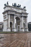 Milan Italy: ACRO-della Schritt Lizenzfreie Stockfotos