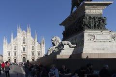 MILAN, ITALY - april 17th: Milan Cathedral Duomo di Milano Royalty Free Stock Photos