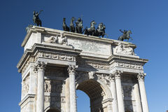 Milan (Italy): Arco della Pace Royalty Free Stock Image