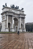 Milan Italy: Arco della Pace Royalty Free Stock Image