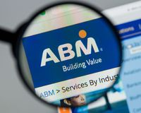 Milan, Italy - August 10, 2017: ABM Industries website homepage. Milan, Italy - August 10, 2017: ABM Industries Stock Images