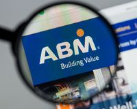 Milan, Italy - August 10, 2017: ABM Industries website homepage. Milan, Italy - August 10, 2017: ABM Industries Royalty Free Stock Photo