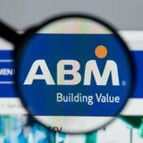 Milan, Italy - August 10, 2017: ABM Industries website homepage. Milan, Italy - August 10, 2017: ABM Industries Stock Photo