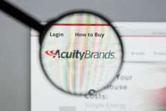 Milan, Italy - August 10, 2017: Acuity Brands website homepage. Stock Photos