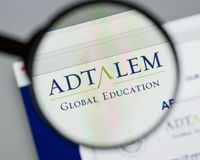 Milan, Italy - August 10, 2017: Adtalem Global Education logo on. The website homepage stock photo