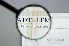 Milan, Italy - August 10, 2017: Adtalem Global Education logo on. The website homepage stock photos