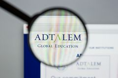 Milan, Italy - August 10, 2017: Adtalem Global Education logo on. The website homepage stock image