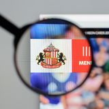 Milan, Italy - August 10, 2017: AFC Sunderland website homepage. Milan, Italy - August 10, 2017: AFC Sunderland Royalty Free Stock Photography