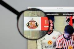 Milan, Italy - August 10, 2017: AFC Sunderland website homepage. Milan, Italy - August 10, 2017: AFC Sunderland Stock Images