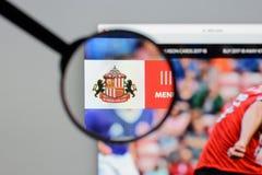 Milan, Italy - August 10, 2017: AFC Sunderland website homepage. Milan, Italy - August 10, 2017: AFC Sunderland Stock Image