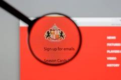 Milan, Italy - August 10, 2017: AFC Sunderland website homepage. Milan, Italy - August 10, 2017: AFC Sunderland Stock Photos