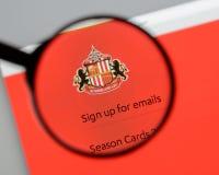 Milan, Italy - August 10, 2017: AFC Sunderland website homepage. Milan, Italy - August 10, 2017: AFC Sunderland Royalty Free Stock Photos