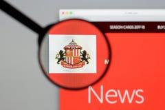 Milan, Italy - August 10, 2017: AFC Sunderland website homepage. Milan, Italy - August 10, 2017: AFC Sunderland Royalty Free Stock Image