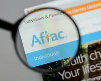 Milan, Italy - August 10, 2017: Aflac website. It is an American Stock Images