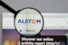 Milan, Italy - August 10, 2017: Alstom website homepage. It is a royalty free stock image