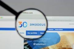 Milan, Italy - August 10, 2017: Amadeus IT Group website homepag Stock Image